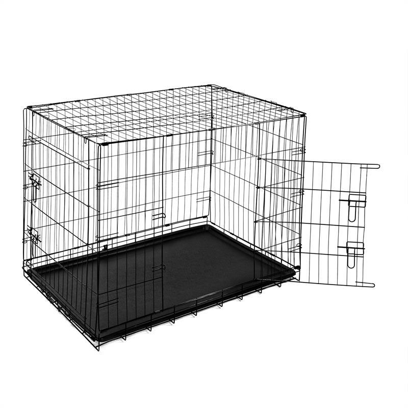 Hundetransportbox-mit-Bodenwanne-Groesse-XXL-Zweituerig-Faltbar-003.jpg