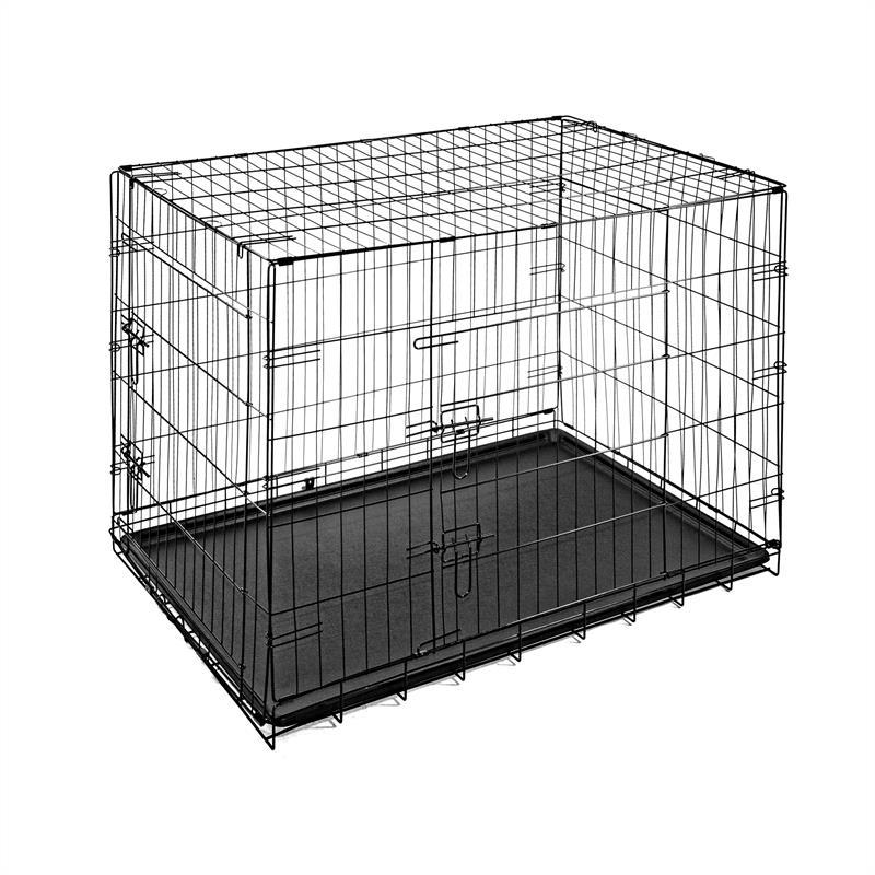 Hundetransportbox-mit-Bodenwanne-Groesse-XXL-Zweituerig-Faltbar-009.jpg