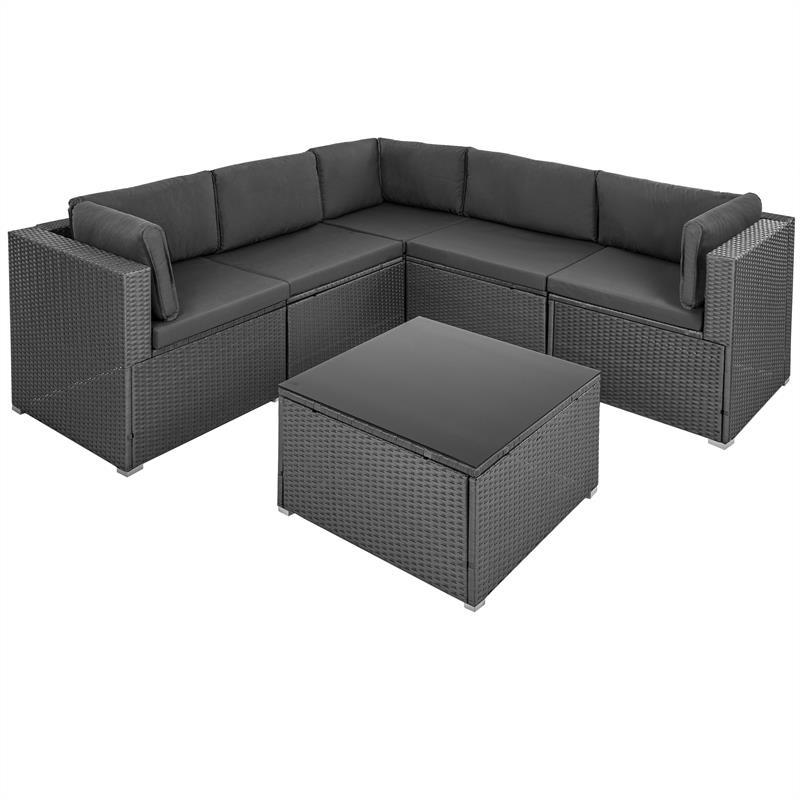 Estexo Luxus Rattan Lounge Grau