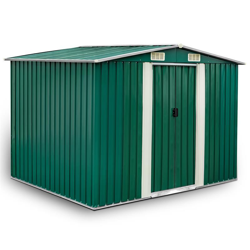 Metall-Gartenhaus-205x257x178cm-Gruen-RAL6005-001.jpg