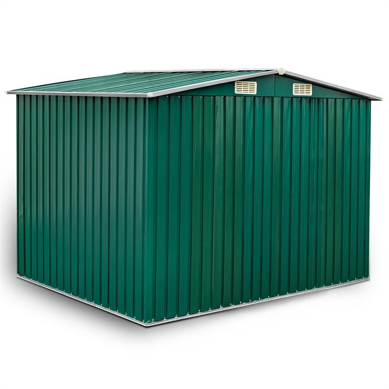 Metall-Gartenhaus-205x257x178cm-Gruen-RAL6005-002.jpg