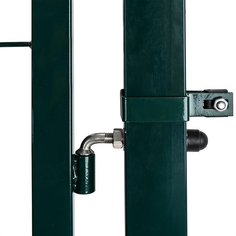 Metall-Gartentuer-mit-Vierkantpfosten-100-160-cm-Gruen-RAL-6005-verstellbare-Edelstahlscharniere-004.jpg