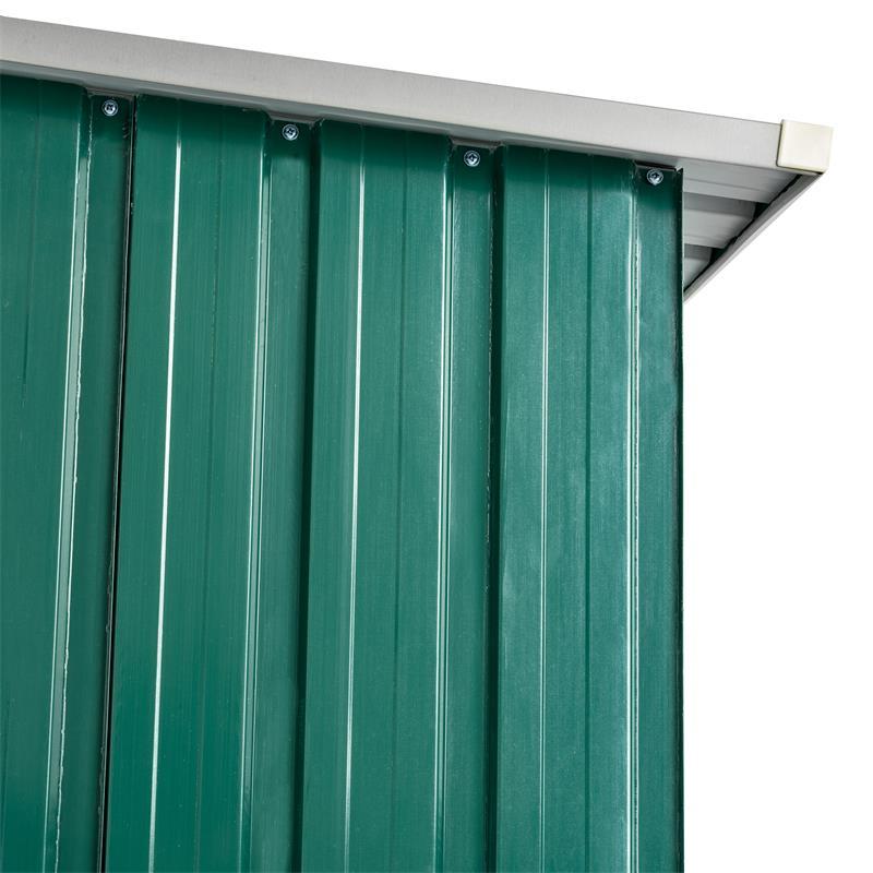 Metall-Holzunterstand-mit-Schraegdach-Trapetzblech-Gruen-RAL-6005-001006.jpg