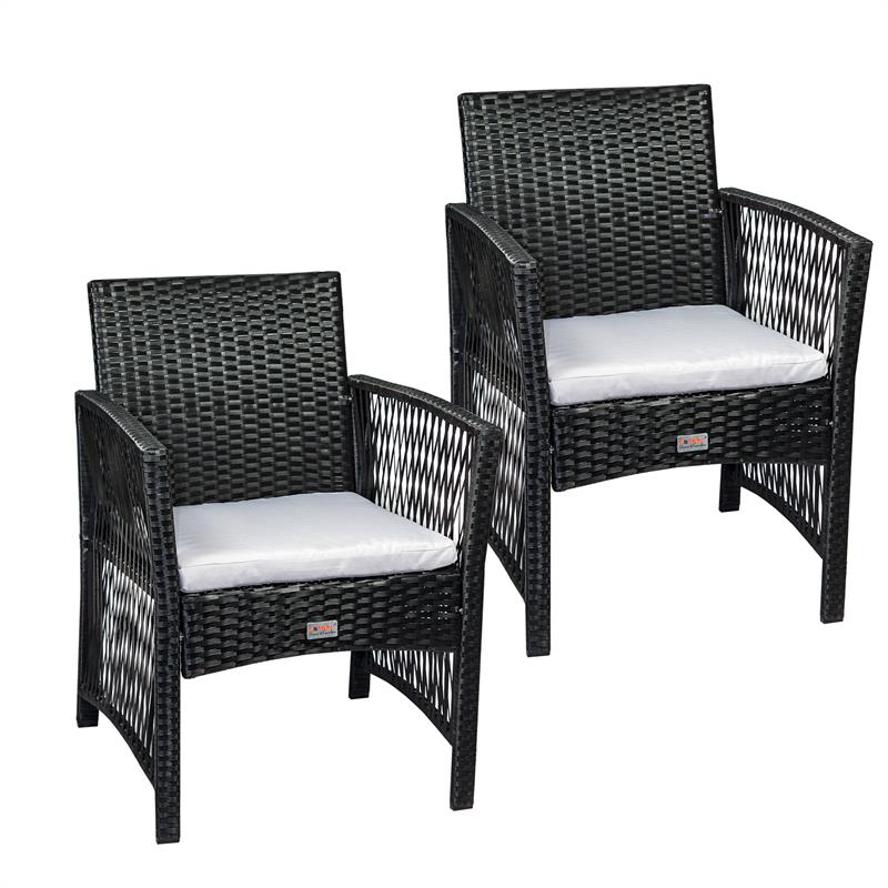 rattan gartenst hle 2er set. Black Bedroom Furniture Sets. Home Design Ideas