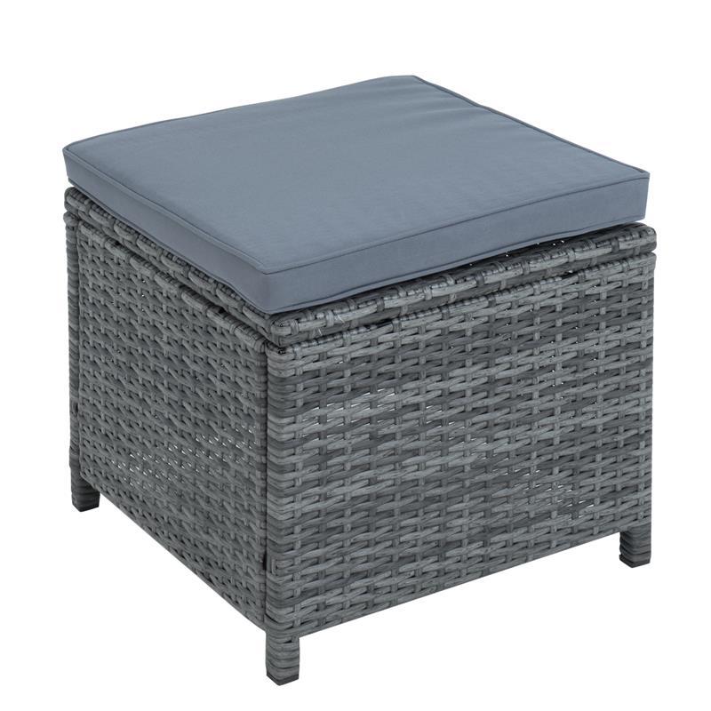 Miraculous Polyrattan Sofa Set 7Teilig Grau Bralicious Painted Fabric Chair Ideas Braliciousco